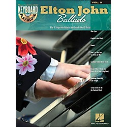 Hal Leonard Elton John Ballads - Keyboard Play-Along Volume 9 (Book/CD) (700752)