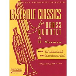 Hal Leonard Ensemble Classics For Brass Quartet Vol 1 For Two Cornets, Horn, & Trombone Or Baritone (4475329)