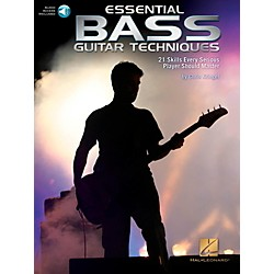 Hal Leonard Essential Bass Guitar Techniques - 21 Skills Every Serious Player Should Master Book/Online Audio (119283)
