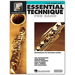 Hal Leonard Essential Technique 2000 Bb Bass Clarinet (Book 3 with CD) (862622)