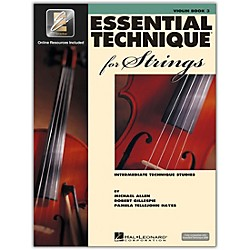 Hal Leonard Essential Technique 2000 For Strings Violin Book 3 Book/CD (868074)