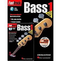 Hal Leonard FastTrack Bass Method Starter Pack - Includes Book/CD/DVD (696404)