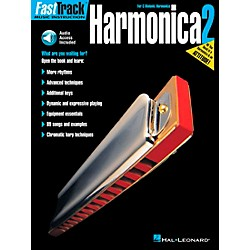 Hal Leonard FastTrack Harmonica Book 2 Book/CD For C Diatonic Harmonica (695889)