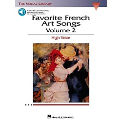 Hal Leonard Favorite French Art Songs For High Voice Volume 2 Book/CD (441)