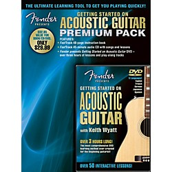 Hal Leonard Fender Presents Getting Started On Acoustic Guitar Premium Pack Book/CD/DVD (696650)