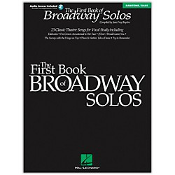 Hal Leonard First Book Of Broadway Solos Baritone / Bass Book/CD (740137)