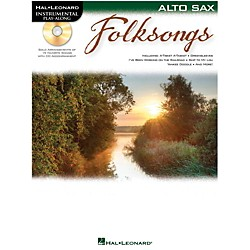 Hal Leonard Folk Songs For Alto Sax  Instrumental Play-Along Book/CD (842697)