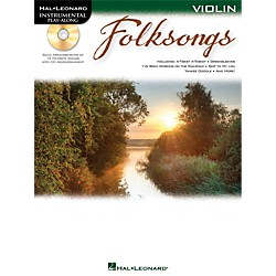 Hal Leonard Folk Songs For Violin  Instrumental Play-Along Book/CD (842702)