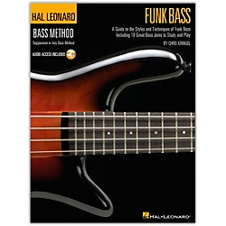 Hal Leonard Funk Bass Method Book & CD (695792)