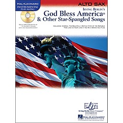 Hal Leonard God Bless America & Other Star-Spangled Songs For Alto Sax instrumental Play-Along Book/CD (842304)