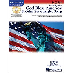 Hal Leonard God Bless America & Other Star-Spangled Songs For French Horn Instrumental Play-Along Book/CD (842307)