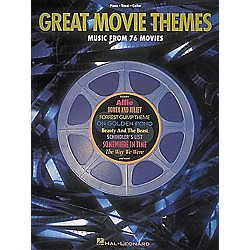 Hal Leonard Great Movie Themes Piano, Vocal, Guitar Songbook (310001)