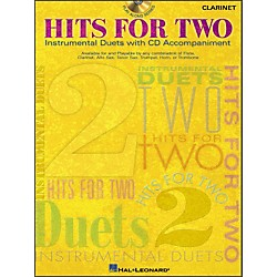 Hal Leonard Hits For Two - Instrumental Duets For Clarinet Book/CD (841593)
