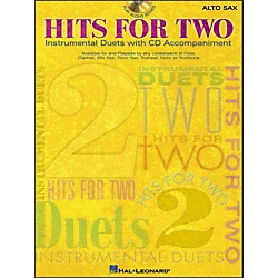 Hal Leonard Hits For Two (Instrumental Duets) For Alto Sax Book/CD Pkg (841594)