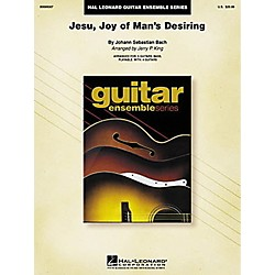 Hal Leonard J.S. Bach Jesu Joy of Man's Desiring Guitar Ensemble Score (699307)