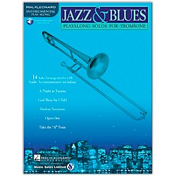Hal Leonard Jazz And Blues Playalong Solos For Trombone Book/CD (841443)