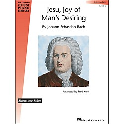 Hal Leonard Jesu, Joy Of Man's Desiring - J.S. Bach - Showcase Solo Level 5 Hal Leonard Student Piano Library by (296729)