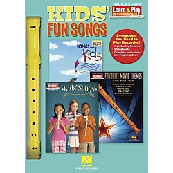 Hal Leonard Kids' Fun Songs Learn & Play 3-Book & Recorder Pack (102843)