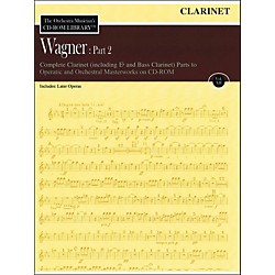 Hal Leonard Orchestra Musician's CD-Rom Library Vol 12 Wagner Part 2 Clarinet (220297)