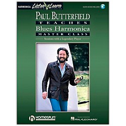 Hal Leonard Paul Butterfield Teaches Blues Harmonica Master Class Book/CD (699089)