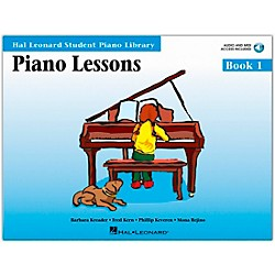 Hal Leonard Piano Lessons Book 1 Book/CD Package HLSPL (296177)