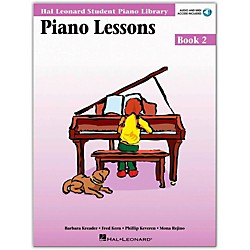 Hal Leonard Piano Lessons Book 2 Book/CD Package Hal Leonard Student Piano Library (296178)
