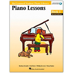 Hal Leonard Piano Lessons Book 3 Book/CD Package Hal Leonard Student Piano Library (296179)