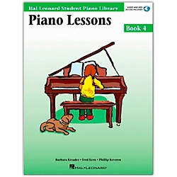 Hal Leonard Piano Lessons Book 4 Book/CD Package Hal Leonard Student Piano Library (296180)