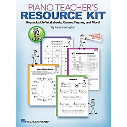 Hal Leonard Piano Teacher's Resource Kit  -Reproducible Worksheets Games Puzzles And More (296802)