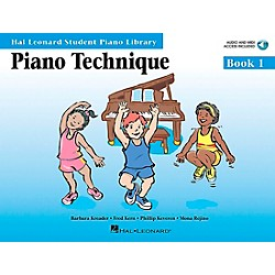 Hal Leonard Piano Technique Book 1 Book/CD Hal Leonard Student Piano Library (296563)