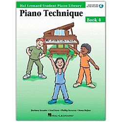 Hal Leonard Piano Technique Book 4 Book/CD Hal Leonard Student Piano Library (296566)