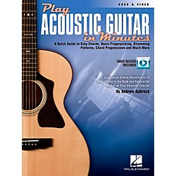 Hal Leonard Play Acoustic Guitar In Minutes Book/DVD (696621)