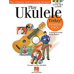 Hal Leonard Play Ukulele Today! Starter Pack - Includes Levels 1 & 2 Book/CDs and a DVD (703290)