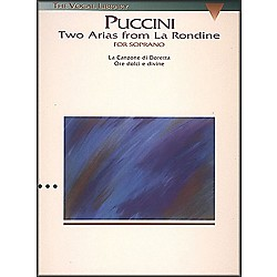 Hal Leonard Puccini:  Two Arias from La Rondine For Soprano Voice (The Vocal Library Series) (747029)