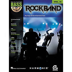 Hal Leonard ROCK BAND - BASS PLAY-ALONG (MODERN ROCK EDITION) VOLUME 21 BOOK/CD (700705)