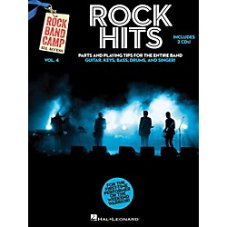 Hal Leonard Rock Hits - Rock Band Camp Vol. 4 (Book/2-CD Pack) Vocal, Guitar, Keys, Bass, Drums (121820)