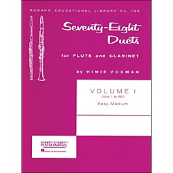 Hal Leonard Rubank 78 Duets For Flute And Clarinet Vol 1 Easy/Medium (4471040)