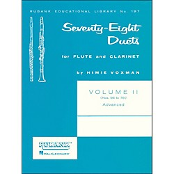 Hal Leonard Rubank 78 Duets For Flute And Clarinet Vol 2 Advanced (4471050)
