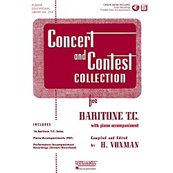 Hal Leonard Rubank Concert And Contest Collection Baritone T.C. Book/CD (4002586)