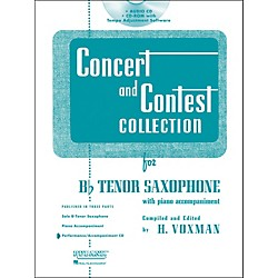 Hal Leonard Rubank Concert And Contest For Tenor Sax - Accompaniment CD (4002515)