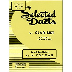 Hal Leonard Rubank Selected Duets For Clarinet Vol 1 Easy/Medium (4470940)