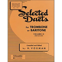 Hal Leonard Rubank Selected Duets For Trombone Or Baritone Vol 2 (4471030)
