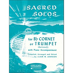 Hal Leonard Sacred Solos for B Flat Cornet Or Trumpet, Baritone T. C. With Piano (4472020)