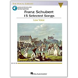 Hal Leonard Schubert - 15 Selected Songs For Low Voice (The Vocal Library) Book / 2 CD's (1144)