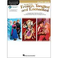 Hal Leonard Songs From Frozen, Tangled And Enchanted For Alto Sax - Instrumental Play-Along Book/Online Audio (126923)