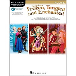 Hal Leonard Songs From Frozen, Tangled And Enchanted For Flute - Instrumental Play-Along Book/Online Audio (126921)