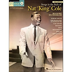 "Hal Leonard Songs In The Style Of Nat ""King"" Cole Pro Vocal Songbook & CD For Male Singers Vol. 45 (740401)"