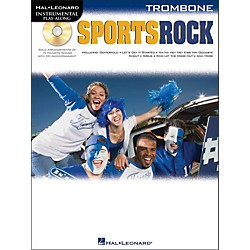 Hal Leonard Sports Rock For Trombone - Instrumental Play-Along Book/CD Pkg (842332)