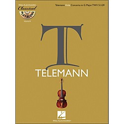 Hal Leonard Telemann: Viola Concerto In G Major, Twv 51:G9 Classical Play-Along Book/CD Vol.8 (842348)