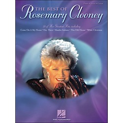 Hal Leonard The Best Of Rosemary Clooney arranged for piano, vocal, and guitar (P/V/G) (306538)